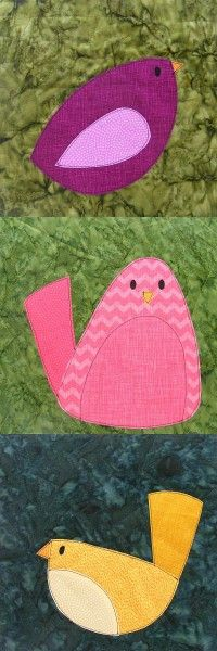 Bird Quilt Pattern from Shiny Happy World