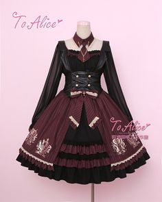 Tomy Bear -Stephanie College- Lolita Skirt, Blouse, Vest And Accessories