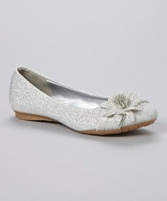 Look what I found on #zulily! Lucky Top Silver Glitter Smart Flat by Lucky Top #zulilyfinds