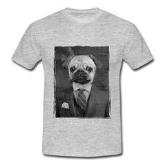 "Tshirt ""Mister Carlin"" #carlin #pug #puglove #costumecravate #cravate #costume #veste #cigare #cigar #chien #cute #doggystyle #photoshop #photomontage #monsieur #dandy #chic"