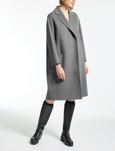"Pure wool coat, medium grey - ""ALATO"" Max Mara"