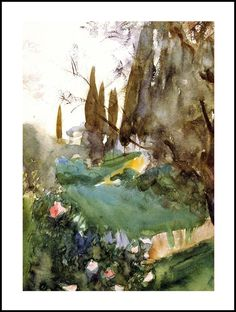 Landscape with Cypresses by John Singer Sargent