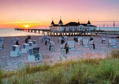 Das Ostseebad Ahlbeck-Heringsdorf is a seaside resort on the island of Usedom in the Baltic Sea in Mecklenburg-Vorpommern, Northeastern Germany. Local attractions include the above pictured famous...