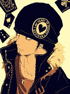 Trafalgar Law, One Piece. These cool characters are what made me watch One Piece. One Piece Manga, One Piece Fanart, Belle Cosplay, Zoro, Trafalgar D Water Law, Manga Anime, Anime Boys, Anime Art, Illustration Art Dessin