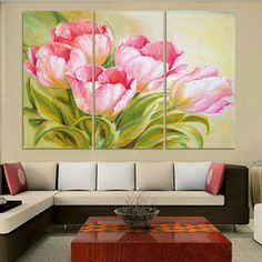Online Shop Luxury Hot Sell Modern oil Painting Tulip Flowers Home Wall Art Picture Paint on Canvas Prints Unframed modular paintings Tulip Painting, Modern Oil Painting, Flower Painting Canvas, Acrylic Painting Techniques, Color Pencil Art, Art Moderne, Wall Art Pictures, Home Wall Art, Acrylic Art