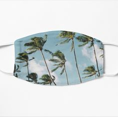 'Hawaii Palms' Mask by BossClothingInc Make A Donation, Mask Design, Snug Fit, Cuff Bracelets, Hawaii, Boss, Palms, Breeze, Stuff To Buy