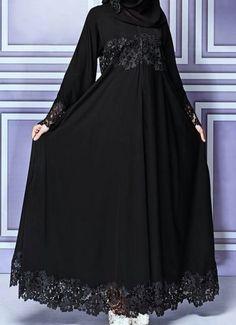 مدل جدید مانتو مشکی برای مراسم و مجالس ( بیش از 100 مدل (Dengan gambar) Hijab Evening Dress, Hijab Dress Party, Hijab Style Dress, Abaya Style, Iranian Women Fashion, Islamic Fashion, Muslim Fashion, Abaya Fashion, Fashion Dresses