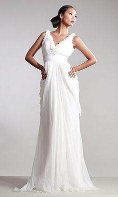 Elegant Chiffon White Natural Long V-neck Prom Dress In Stock prom dress prom dresses Prom Dress 2014, V Neck Prom Dresses, Wedding Dresses, Homecoming Dresses, Dresses Dresses, Long Dresses, Dresses 2014, Popular Dresses, Pageant Dresses