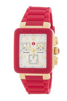 Women's Jelly Bean Pink Watch by Michele on @HauteLook
