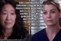 Consejo y despedida de Cristina Cristina Yang Frases, Greys Anatomy Frases, Cute Couple Gifts, Famous Quotes, Book Series, Beautiful Day, Life Lessons, Medicine, Trauma