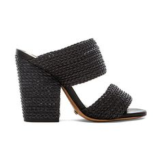 Schutz Emyly Heel Shoes (21120 RSD) via Polyvore featuring shoes, pumps, heels, high heel shoes, high heel pumps, schutz pumps, woven-leather shoes and schutz footwear