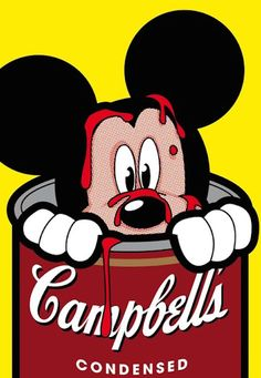 Pop Art By Greg Guillemin from Secret Life of Super Heroes Series | 23 x 30 In Screen print |  Mickey Mouse, Campbell's soup, Disney, Warhol, Comic, Pop Art