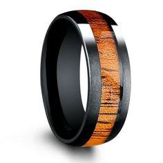 Mens Wooden Wedding Bands, Wedding Men, Budget Wedding, Wedding Blog, Summer Wedding, Destination Wedding, Wedding Ideas, Wood Inlay Rings, Wood Rings