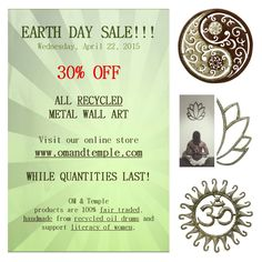 EARTH DAY YOGA ART SALE! Metal Art Decor, Metal Wall Art, Wall Art Decor, Yoga Studio Decor, Zen Space, Yoga At Home, Meditation Space, Yoga Art, Earth Day
