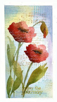 Beautiful poppy watercolour. Love the layers.