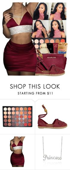 """""""WINE"""" by thailyn-nicole ❤ liked on Polyvore featuring Morphe, Valentino and Belk & Co."""