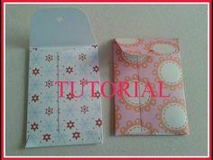 ▶ bustina facile, facile (pocket envelope )scrapbooking tutorial - YouTube
