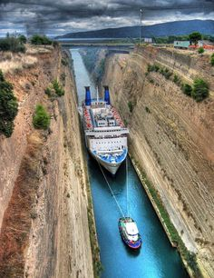 Places ◕‿◕n Earth | Corinthos Channel, Greece