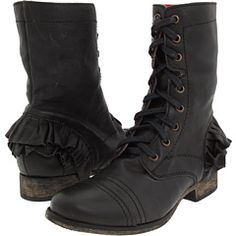 Thats what I should do, I should get some spats and dress up my old docs.  previous pinner: betsy johnson llola combat boots