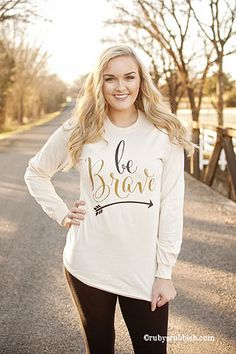 Be Brave - Christian Long Sleeve Tee by Ruby's Rubbish $30