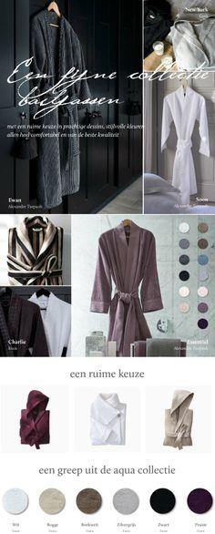 Badjassen van topkwaliteit in vele effen kleuren en meerdere dessins.