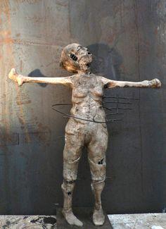 Page sans titre Olivier de Sagazan sculptures, paintings, performance, photography, plastic arts, visual arts, fine art