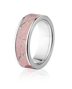 Realtree Pink Camo Ring for Her 7mm | Camo Ever After