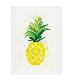 Colorful living decor. The new Pineapple art print by Laura Trevey, available in four different sizes to brighten up your favorite space!