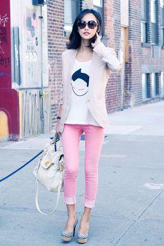 Shop this look on Kaleidoscope (blazer, top, jeans, heels, purse, sunglasses)  http://kalei.do/W1c2dB8x0QhD4J80