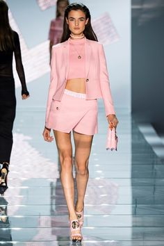 completo pantalone e giacca rosa Versace 2015 e8eca6dce2c
