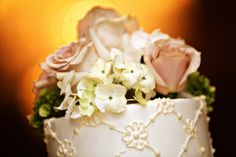 Pretty cake details. Cake design by Prestonwood CC Club. Photography by Megan Kime Photography