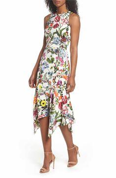 27a764a01ff Maggy London Floral Print Charmeuse Midi Dress (Regular   Petite)