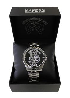 BikerOrNot Store - Sons of Anarchy Classic Silver Reaper Watch, $89.97 (http://store.bikerornot.com/sons-of-anarchy-classic-silver-reaper-watch/)