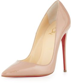 Christian Louboutin So Kate Patent Red Sole Pump, Nude on shopstyle.com