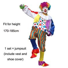 Halloween Circus Clown Costumes for Men  sc 1 st  Pinterest & Halloween Costumes Adult Funny Circus Clown Costume Naughty ...