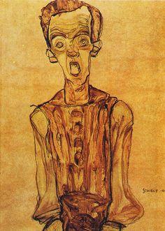 Egon Schiele, Self-Portrait, 1910, via Flickr.