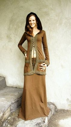 Medieval Top for Boho Women Clothing and Witch Pixie Top for Elven Cosplay and Festival Outfit Oaklet Top Brown Elven Cosplay, Jedi Outfit, Pixie Outfit, Fairy Clothes, Steampunk Clothing, Cool Outfits, Woman Outfits, Alternative Fashion, Festival Fashion