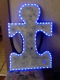 """Don't forget to """"Light it Up Blue"""" for Autism Awareness on April 2nd - Support our Simon! :) Blue lights are cheap and can be found at the Wal-Marts."""