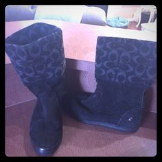 Coach boots Black coach boots only worn twice excellent condition 100% authentic Coach Shoes Ankle Boots & Booties