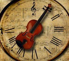 Violin Clock...oh, I wish...  I THINK I CAN MAKE ONE.............??!!