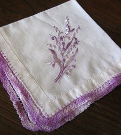 Vintage Purple Lily of the Valley Floral by WhimsyHouse on Etsy, $4.00