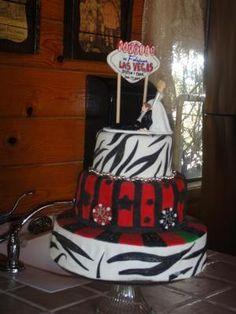 Las Vegas Cake:  Fondant Fondant, and more Fondant!