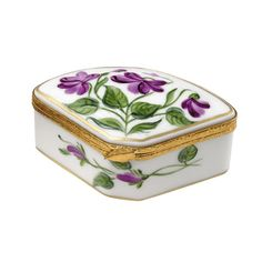"""Handmade and handpainted in France, with decorative brass fasteners. (2 ¾"""" x 1  5 ⁄ 8 """")"""