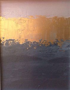 Abstract Painting Pink Gold And Grey Color block Minimalistic Landscape Art, painting between dining room and living room Painting Inspiration, Color Inspiration, Colour Schemes, Colour Palettes, Landscape Art, Diy Art, Pink And Gold, Rose Gold, Art Projects