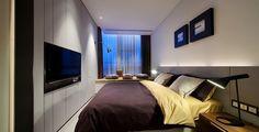 Casas Minimalistas y Modernas: dormitorio minimalista