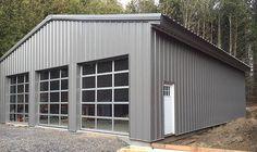 Barn Garage, Man Cave Garage, Garage Shop, Garage House, Garage Plans, Garage Ideas, Dream Garage, Garage Doors, Steel Garage Buildings