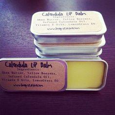 Infused Calendula Lip Balm Lemongrass by SoapyLayne on Etsy