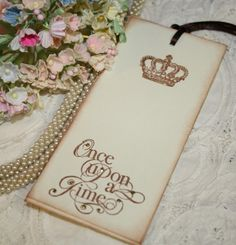 once upon a time baby shower theme | Wish Tree Wedding Tags - Once Upon a Time - Vintage Crowns - Set of 25 ...