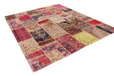 Patchwork vloerkleed, vintage, divers, 296cm x 240cm | Rozenkelim.nl - Groot assortiment kelim tapijten