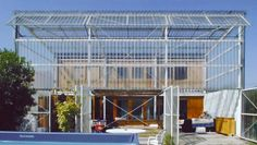 Greenhouse in east facade of Maison Latapie, Lacaton Vassal Metal Structure, Exterior Siding, Aquitaine, Small Living Rooms, Habitats, Interior Architecture, Outdoor Decor, Facades, Healthy Tips